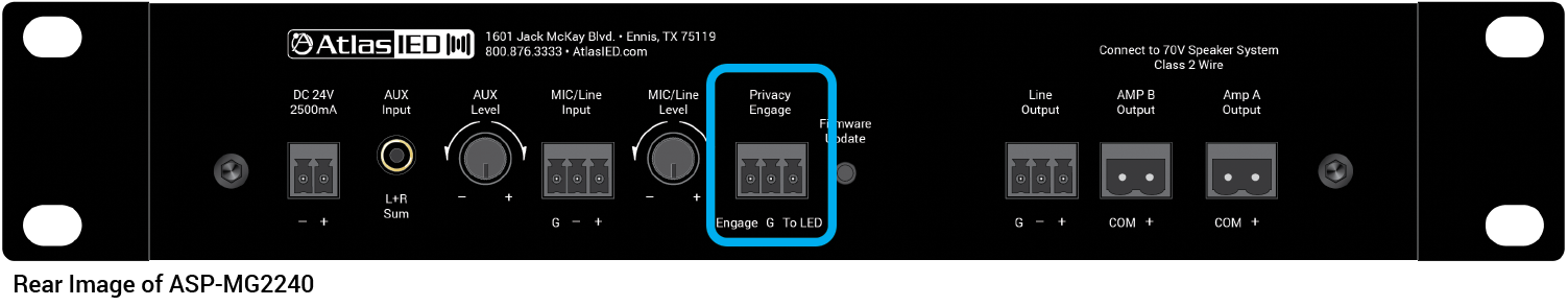 Privacy Engage for Instantly Turning On or Off Sound Masking